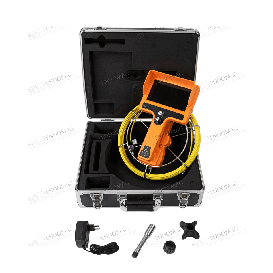 Технический промышленный видеоэндоскоп для инспекции труб WOPSON WPS-710-SCJ для инспекции, 20 м, без записи - 2