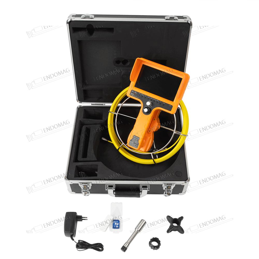 Технический промышленный видеоэндоскоп для инспекции труб WOPSON WPS-710D-SCJ для инспекции, 20 м, с записью